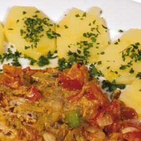 Braciole di maiale piccanti al curry