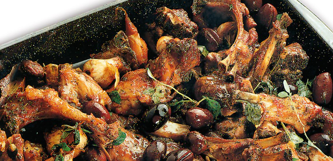 Agnello con peperoni e olive all'abruzzese