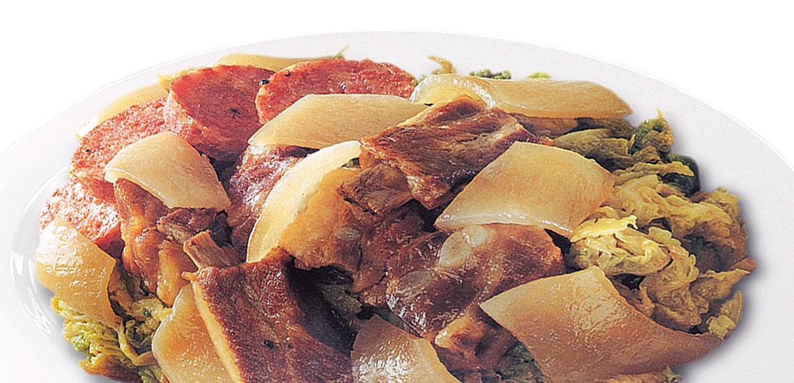 Costine di maiale con cardo