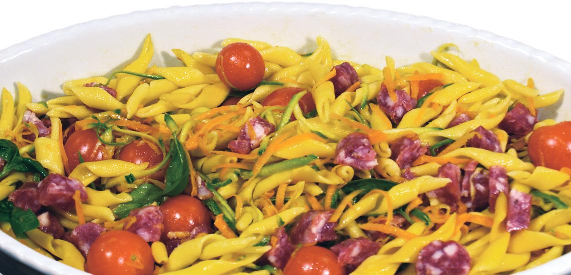 Salsiccia casareccia passita in pasta fredda
